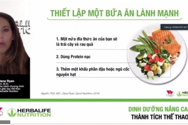 Herbalife tổ chức chương trình huấn luyện dinh dưỡng thể thao trực tuyến