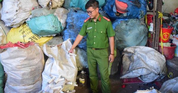 Huế: Kiểm tra cơ sở phế liệu, phát hiện nhiều bao tải rác thải y tế