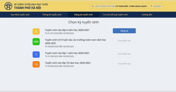 Hà Nội: Hướng dẫn phụ huynh tra cứu phân tuyến tuyển sinh đầu cấp năm học 2020-2021