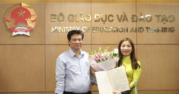 Bộ Giáo dục và Đào tạo công bố quyết định bổ nhiệm lãnh đạo cấp vụ
