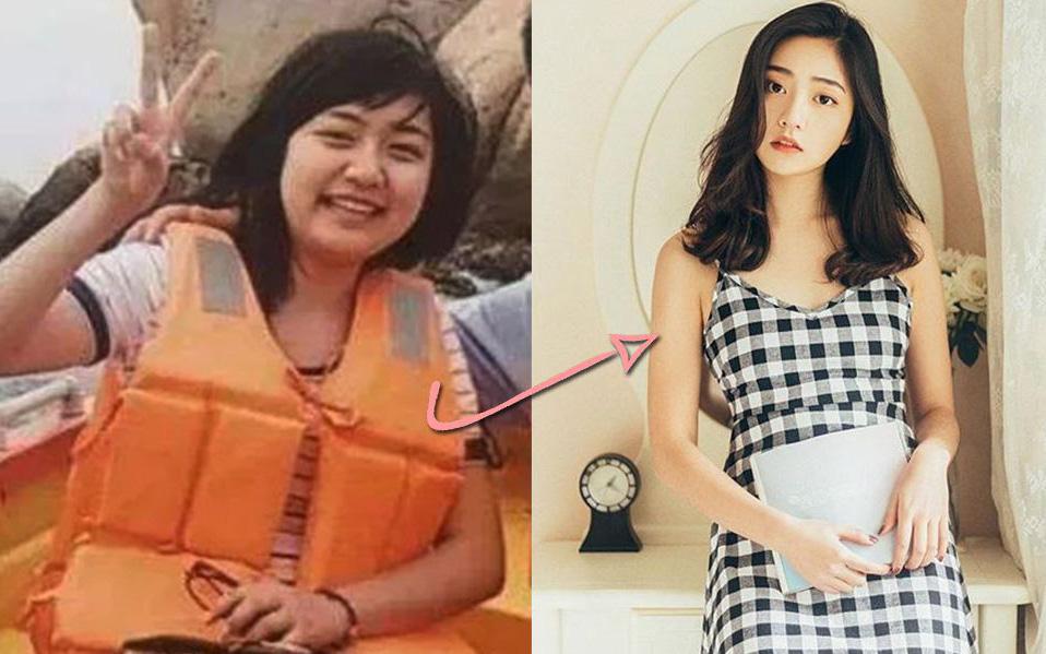 Màn lột xác ngoạn mục của gái xinh xứ Trung: giảm 10kg trong 1 năm, biến thành