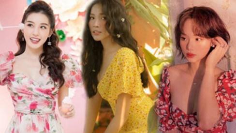 Muốn diện váy hoa trẻ trung, duyên dáng trong nắng hè, chị em hãy học hỏi từ các sao Việt
