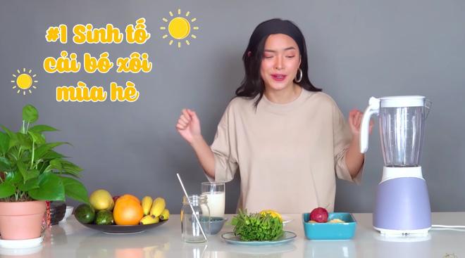 Châu Bùi thị phạm 3 món sinh tố rau xanh thay bữa chính mà vẫn đủ dưỡng chất, Binz hẹn hò với Châu thì kiểu gì cũng lây lối sống healthy này-2