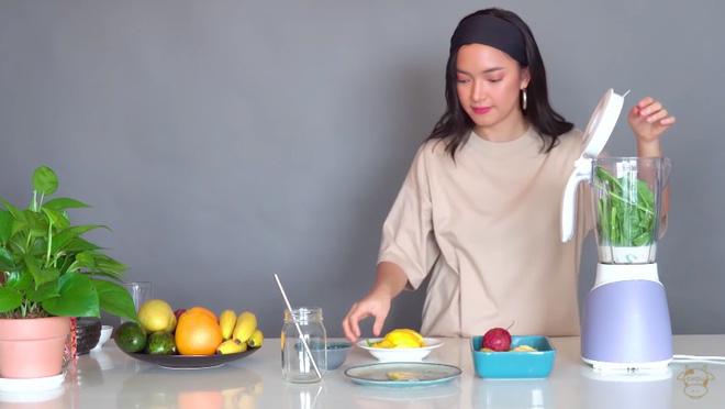 Châu Bùi thị phạm 3 món sinh tố rau xanh thay bữa chính mà vẫn đủ dưỡng chất, Binz hẹn hò với Châu thì kiểu gì cũng lây lối sống healthy này-5
