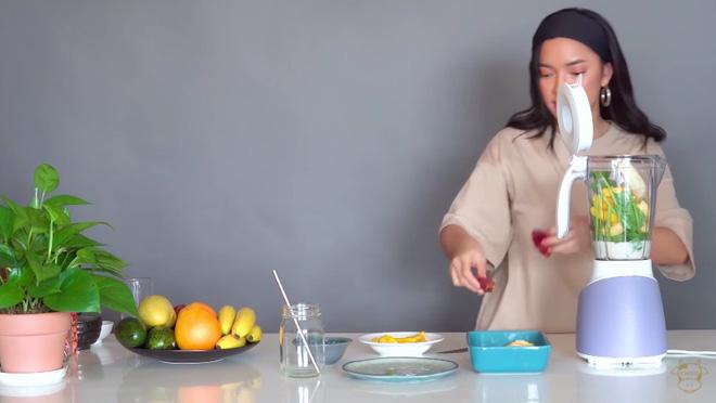Châu Bùi thị phạm 3 món sinh tố rau xanh thay bữa chính mà vẫn đủ dưỡng chất, Binz hẹn hò với Châu thì kiểu gì cũng lây lối sống healthy này-8