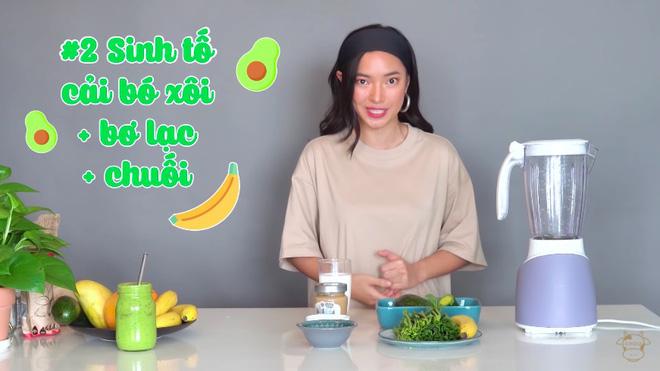 Châu Bùi thị phạm 3 món sinh tố rau xanh thay bữa chính mà vẫn đủ dưỡng chất, Binz hẹn hò với Châu thì kiểu gì cũng lây lối sống healthy này-12