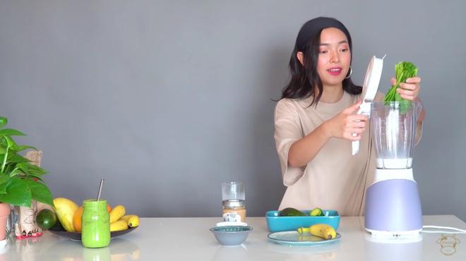 Châu Bùi thị phạm 3 món sinh tố rau xanh thay bữa chính mà vẫn đủ dưỡng chất, Binz hẹn hò với Châu thì kiểu gì cũng lây lối sống healthy này-14