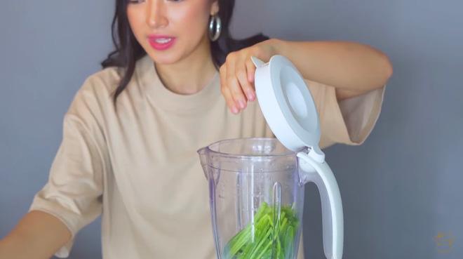 Châu Bùi thị phạm 3 món sinh tố rau xanh thay bữa chính mà vẫn đủ dưỡng chất, Binz hẹn hò với Châu thì kiểu gì cũng lây lối sống healthy này-23