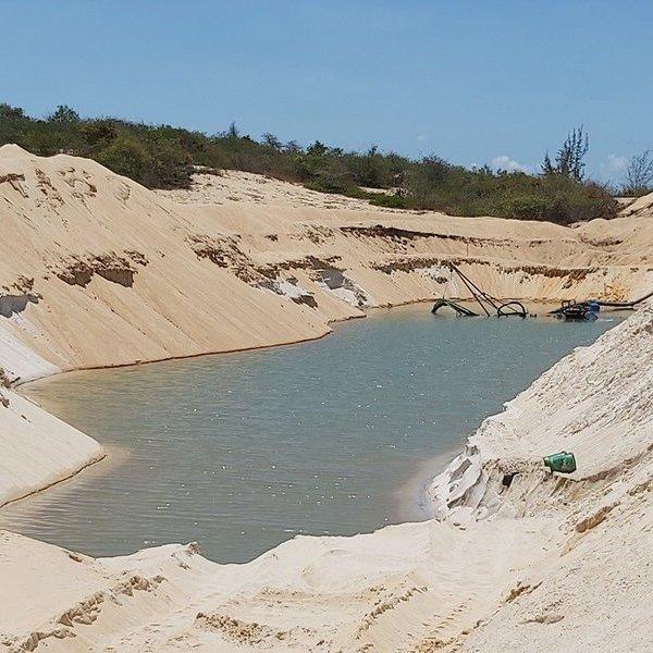 Phạt công ty Free Land 100 triệu đồng vì khai thác cát trái phép