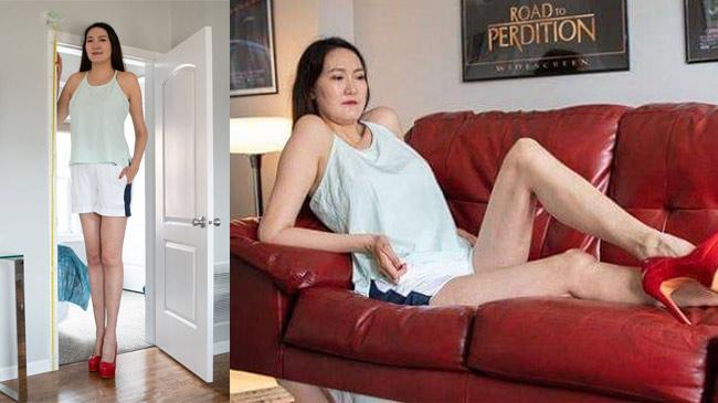 Trải lòng của cô gái có cặp chân dài 134cm, giữ kỷ lục nhất nhì thế giới