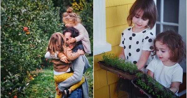 Khu vườn xinh đẹp như cổ tích và cuộc sống tràn ngập tiếng cười hạnh phúc của ba mẹ con yêu thích trồng cây, làm vườn