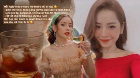 Mỗi ngày một ly rượu mơ trước khi đi ngủ: Bí quyết làm đẹp được Chi Pu học lỏm từ phụ nữ Nhật Bản