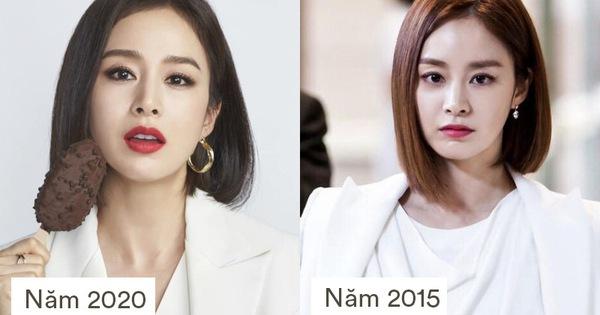 Ở tuổi 40, Kim Tae Hee với hình ảnh nữ tổng tài tái hiện kiểu tóc ngắn từng gây sốt 5 năm trước, nhưng nhan sắc hiện tại mới khiến fan rụng rời