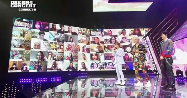 Khán giả đeo khẩu trang đi xem Dream Concert