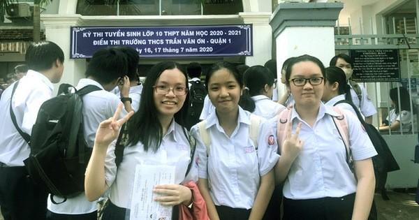 TP. Hồ Chí Minh chính thức công bố điểm thi vào lớp 10 THPT