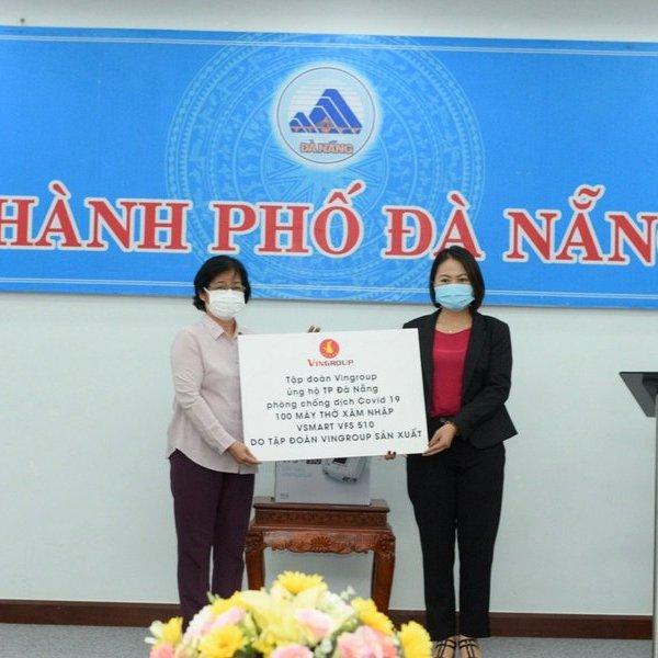 Đà Nẵng tiếp nhận 100 máy thở của Vingroup
