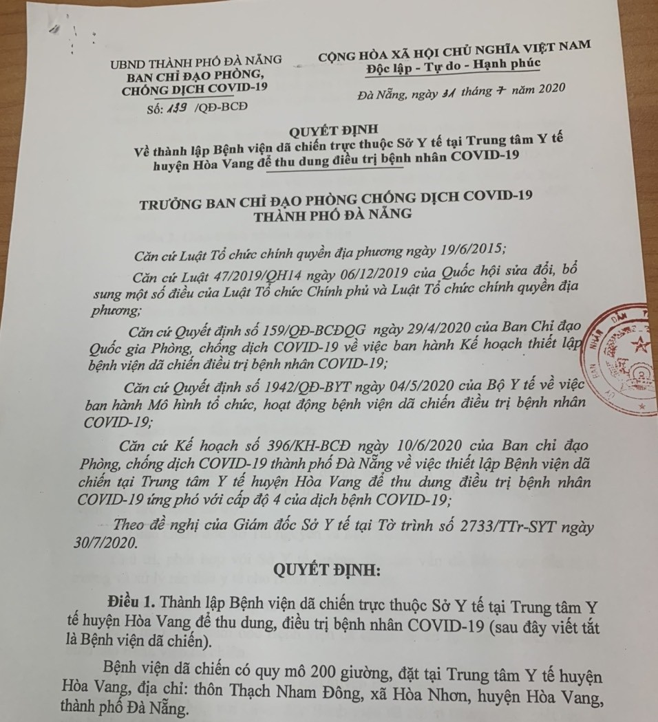 TP. Đà Nẵng: Lấy mẫu 2.800 người vùng phong tỏa, chính thức lập bệnh viện dã chiến-3