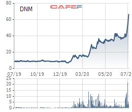 Nhu cầu khẩu trang y tế tăng đột biến, cổ phiếu Danameco (DNM) tăng 8 lần trong năm 2020-1