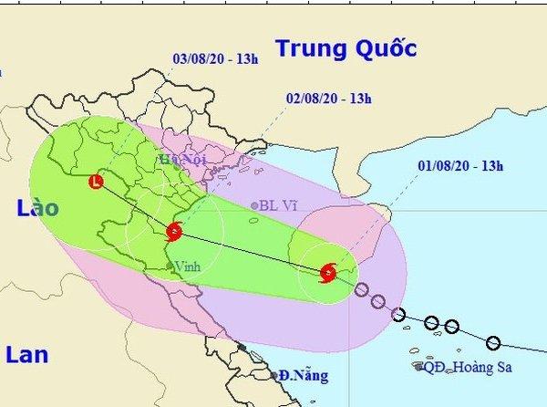Bão số 2 giật cấp 10, đi vào đất liền từ Ninh Binh đến Nghệ An, tiếp tục gây mưa to