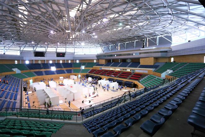 Thần tốc hoàn thiện bệnh viện dã chiến 300 giường trong nhà thi đấu Cung Thể thao ở Đà Nẵng-2