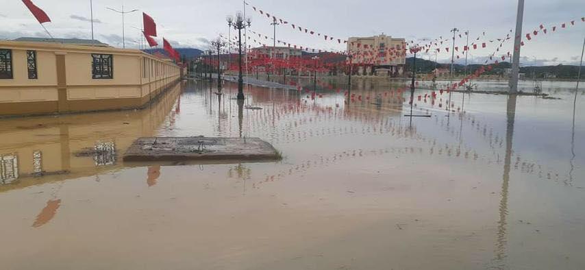 Hà Tĩnh: Sai sót trong lập đồ án, Trung tâm hành chính huyện Kỳ Anh ngập trong nước sau cơn mưa-6