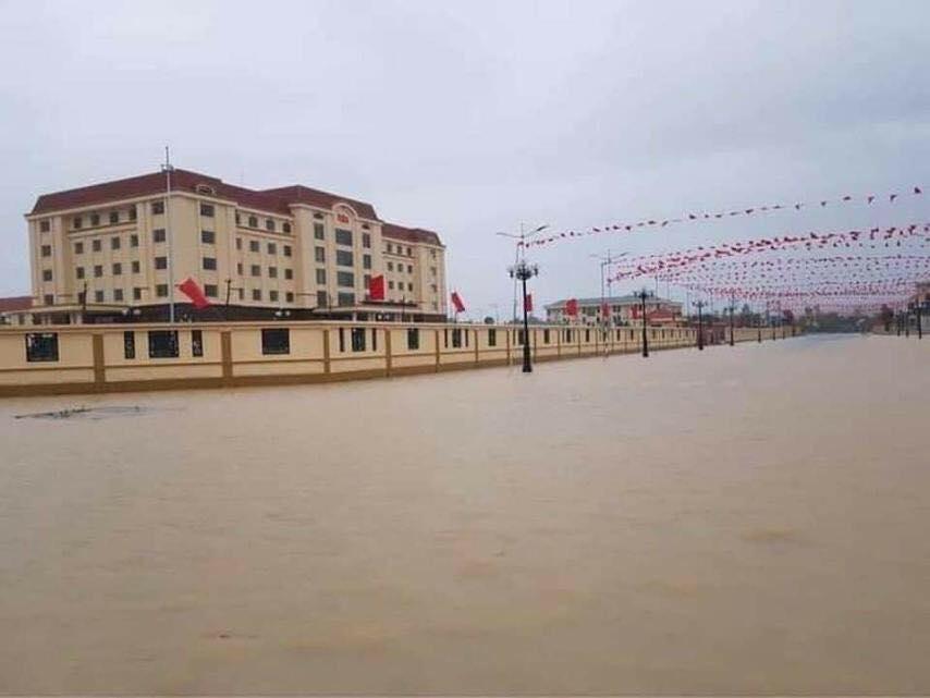 Hà Tĩnh: Sai sót trong lập đồ án, Trung tâm hành chính huyện Kỳ Anh ngập trong nước sau cơn mưa-2