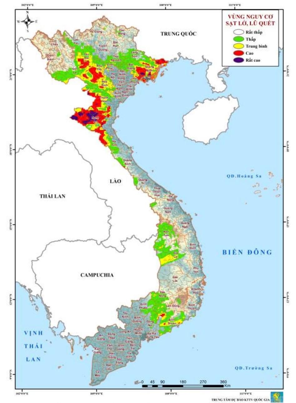 Cảnh báo lũ quét, sạt lở đất và ngập úng tại nhiều tỉnh thành trên cả nước-1