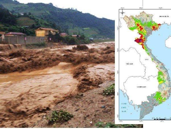 Cảnh báo lũ quét, sạt lở đất và ngập úng tại nhiều tỉnh thành trên cả nước