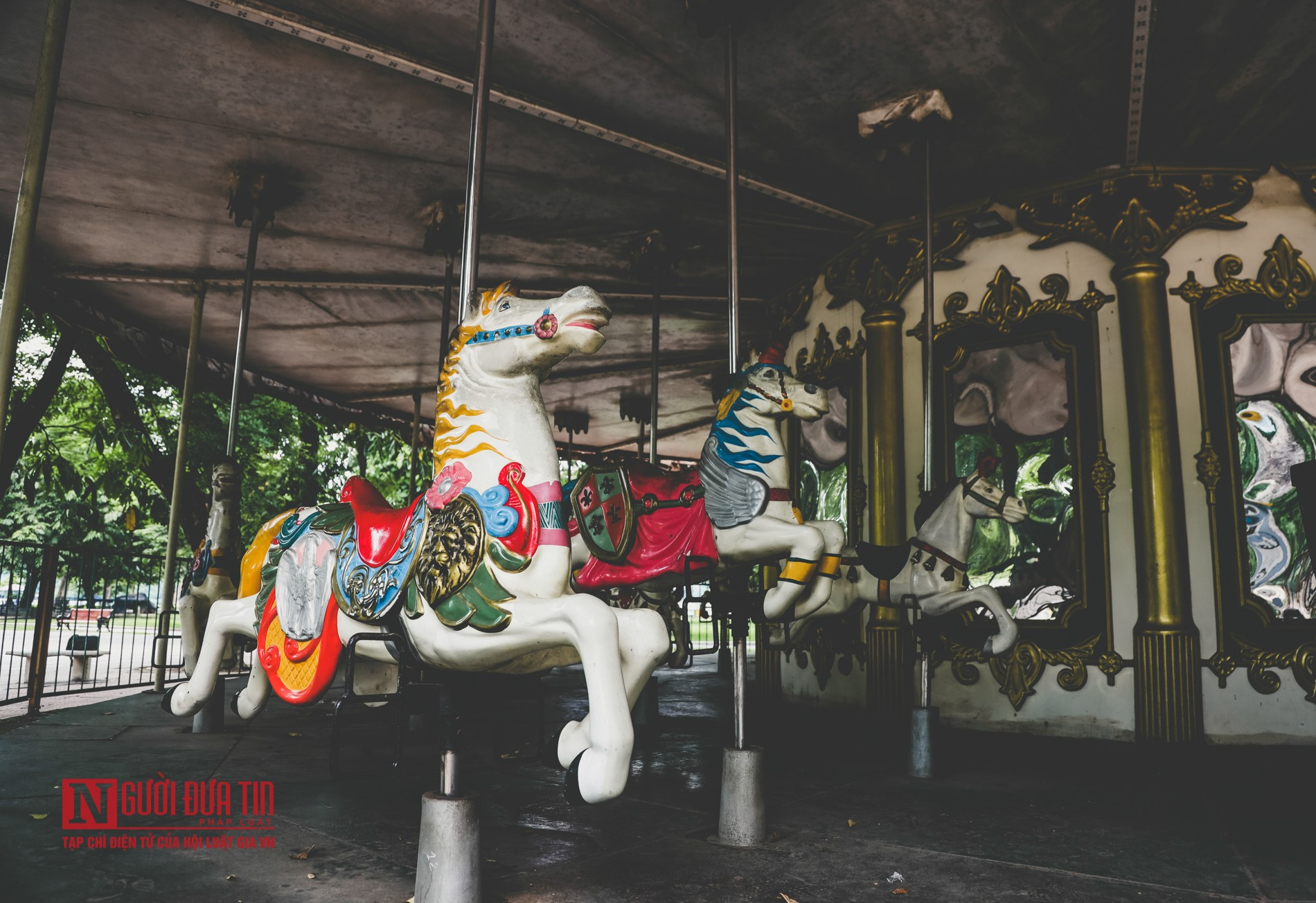 Hà Nội: Xót xa những hạng mục vui chơi cho trẻ xuống cấp, hư hỏng tại công viên Thống Nhất-2