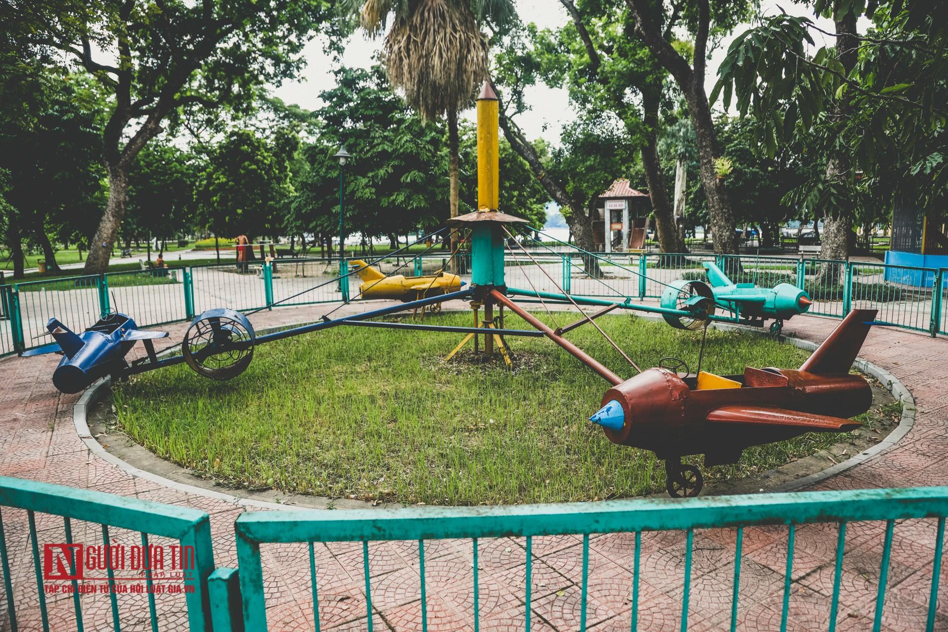 Hà Nội: Xót xa những hạng mục vui chơi cho trẻ xuống cấp, hư hỏng tại công viên Thống Nhất-3