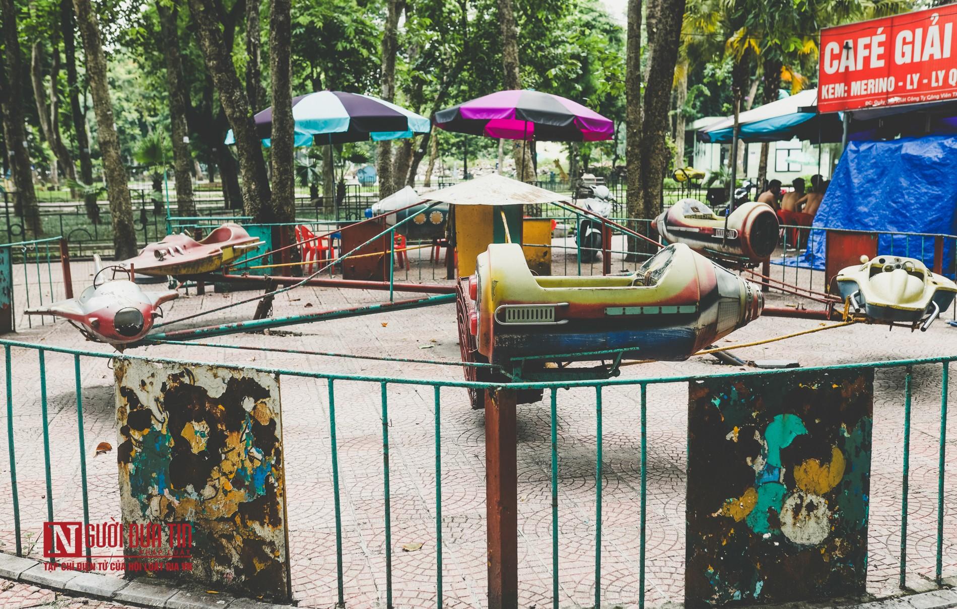Hà Nội: Xót xa những hạng mục vui chơi cho trẻ xuống cấp, hư hỏng tại công viên Thống Nhất-1