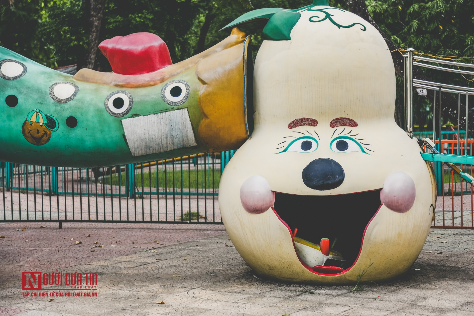 Hà Nội: Xót xa những hạng mục vui chơi cho trẻ xuống cấp, hư hỏng tại công viên Thống Nhất-7