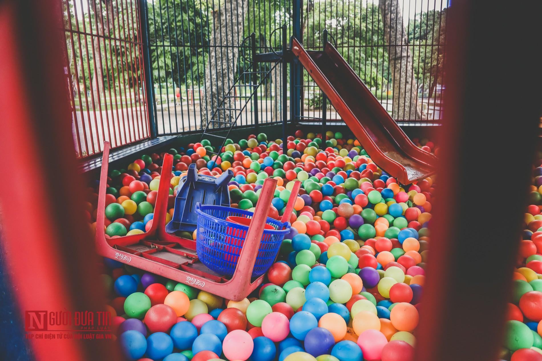 Hà Nội: Xót xa những hạng mục vui chơi cho trẻ xuống cấp, hư hỏng tại công viên Thống Nhất-8