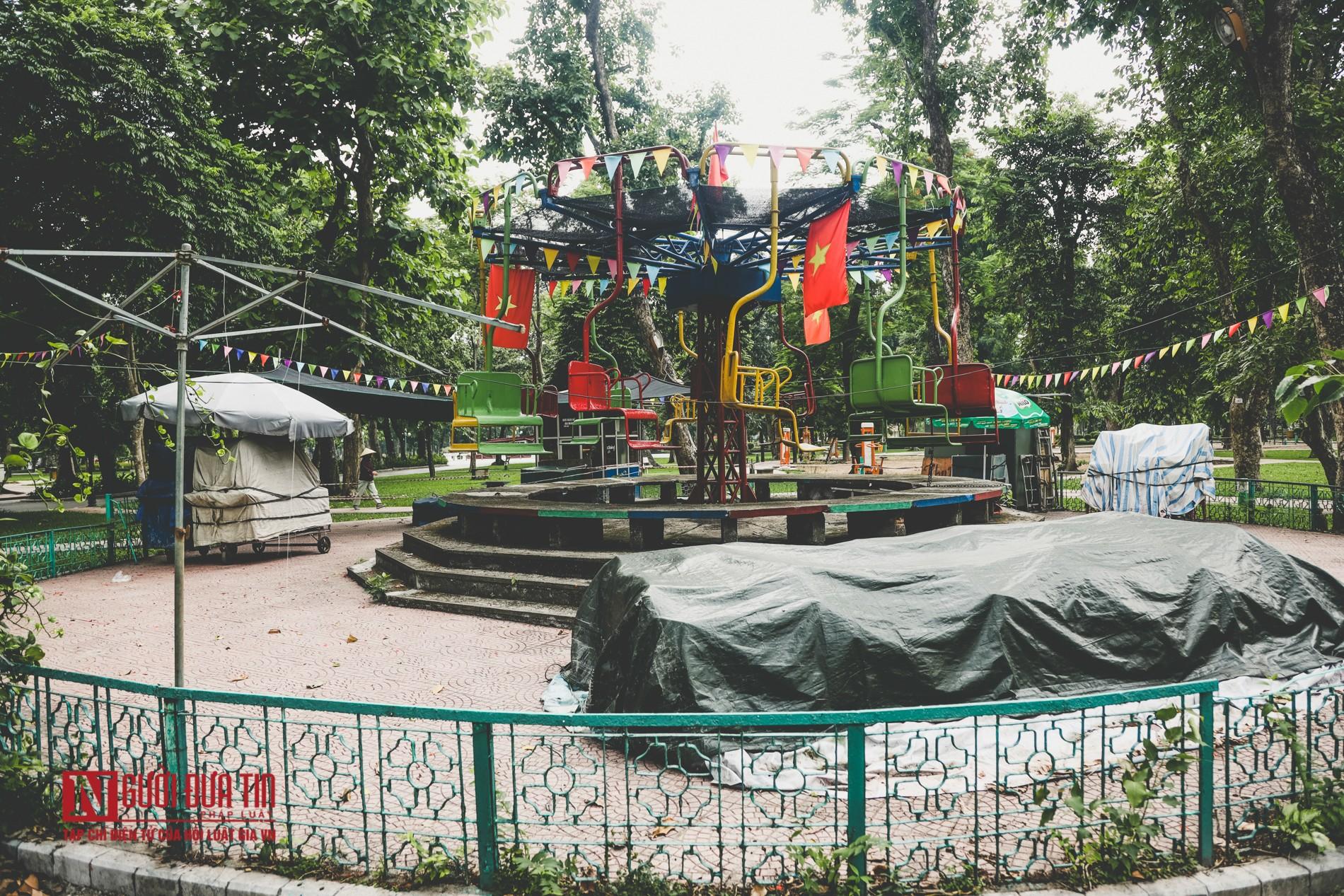 Hà Nội: Xót xa những hạng mục vui chơi cho trẻ xuống cấp, hư hỏng tại công viên Thống Nhất-6