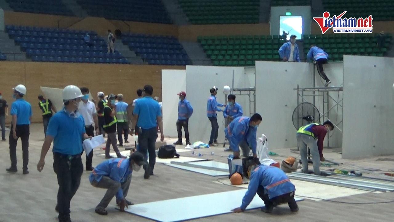 Gấp rút hoàn thiện Bệnh viện dã chiến Tiên Sơn quy mô 2.000 giường