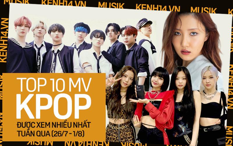 10 MV Kpop được xem nhiều nhất tuần: BLACKPINK tăng tốc cản màn cướp ngôi vương từ ATEEZ; Hwasa vượt mặt TWICE lẫn Stray Kids-1