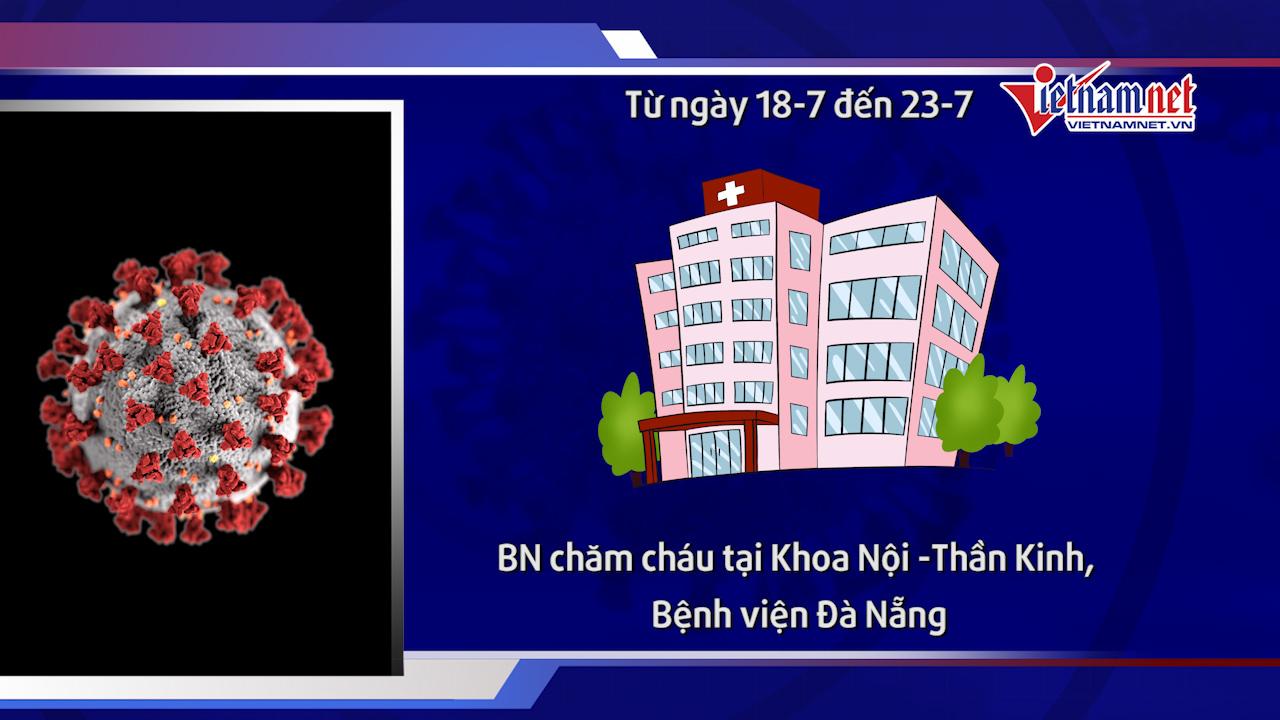 BN nhân 621 có đến BV Đà Nẵng, không nhớ rõ một số người đã tiếp xúc