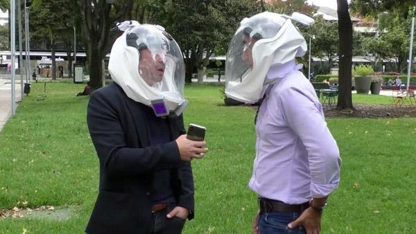 Mũ phi hành gia phòng lây nhiễm Covid-19