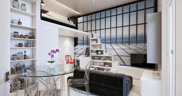 Căn hộ 29m² màu trắng siêu tiết kiệm không gian với góc view cực chất ai ngắm cũng muốn sở hữu ngay