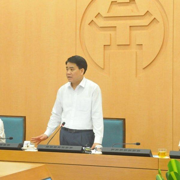 Chủ tịch Nguyễn Đức Chung đề nghị nâng mức cảnh báo Covid - 19 tại Hà Nôi