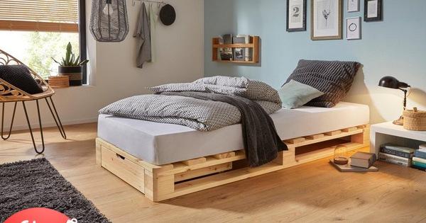 """Làm mới phòng ngủ với muôn kiểu giường pallet xinh độc lạ, được nhiều chị em """"nghiện nhà"""" chọn lựa"""