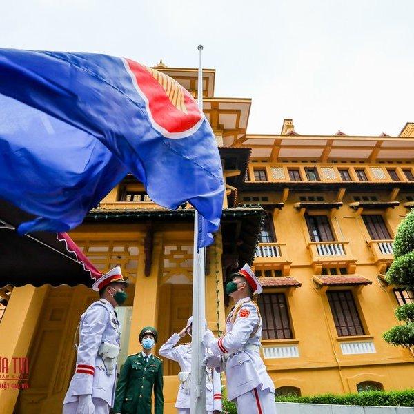 Trang nghiêm lễ thượng cờ ASEAN nhân kỷ niệm 53 năm thành lập