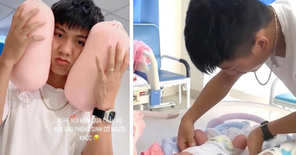 Những khoảnh khắc đầu tiên khi làm bố của Phan Văn Đức: Hạnh phúc, rạng rỡ nhưng cũng lúng túng khi lần đầu chăm sóc