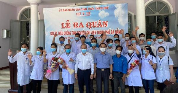 40 bác sĩ, điều dưỡng của Huế làm lễ xuất quân vào chi viện Đà Nẵng