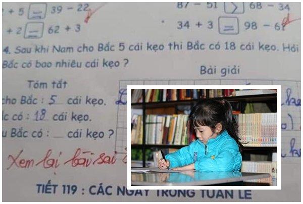 Học trò tính đúng bài toán nhưng vẫn bị cô giáo gạch thành sai, rốt cuộc ai mới là người mắc lỗi?