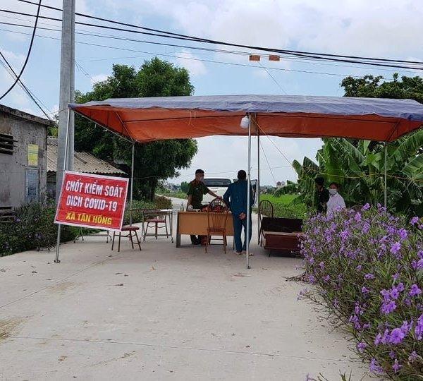 Phong tỏa 1 thôn ở Hải Dương có người nhiễm Covid-19