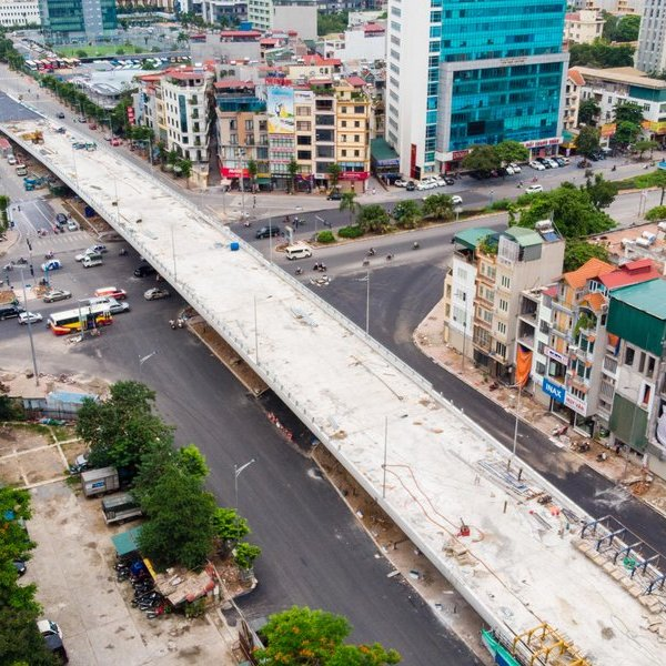 Cận cảnh cây cầu vượt quy mô lớn nhất Hà Nội sắp thông xe
