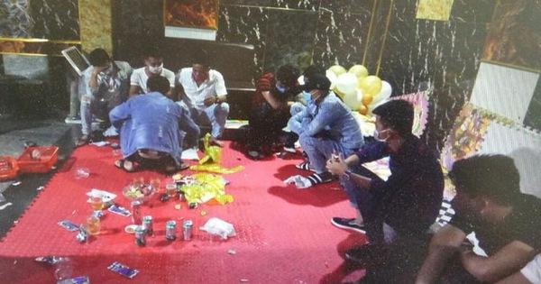 14 thanh niên dương tính ma túy trong tiệc sinh nhật dưới hầm quán karaoke
