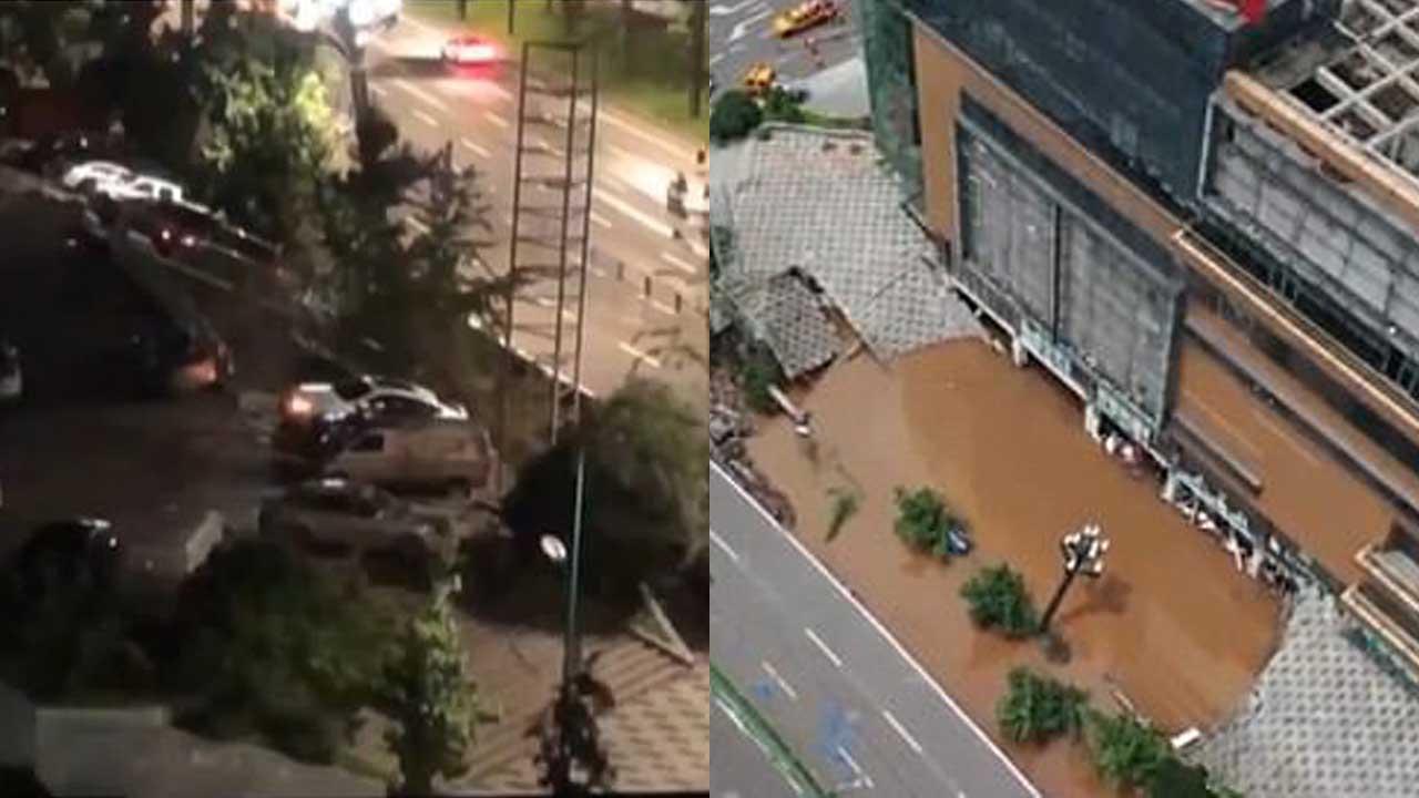 Hố tử thần 'nuốt chửng' 21 ô tô ngay trước cửa trung tâm thương mại