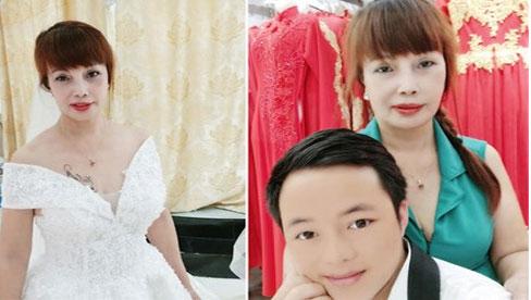 Cô dâu Thu Sao tung ảnh mặc váy cưới, nhan sắc như gái đôi mươi, CĐM tranh cãi gay gắt